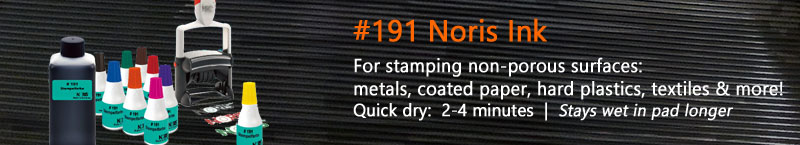 #191 Noris Ink • For rubber stamping most surfaces like metals, hard plastic, textiles, paper, and more