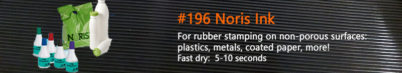 #196 Noris Ink is a fast dry ink for stamping plastic, metal, and most any surface. Dry time: 5-10 seconds | Buy online!