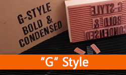 • G Style - Bold & Narrow