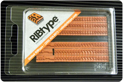 Fa10vp Ribtype Rubber Stamp Set 1 8 Inch Bold Numbers