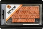 """TA15-1/2 RIBtype Rubber Stamp Set has 1/16"""" Letters & Numbers • Make your own stamps and change as needed. • Buy online! Find additional sizes, stamps, ink, demos and more."""