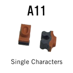 """A11 RIBtype Sorts, 9/64"""" - Individual letters, numbers, & symbols. Make your own rubber stamps with RIBtype interchangeable rubber type. Order online!"""
