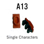 """A13 RIBtype Sorts, 1/4"""" - Individual letters, numbers, & symbols. Make your own rubber stamps with RIBtype interchangeable rubber type. Order online!"""