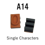 """A14 RIBtype Sorts, 5/16"""" - Individual letters, numbers, & symbols. Make your own rubber stamps with RIBtype interchangeable rubber type. Order online!"""