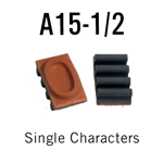 """A15-1/2 RIBtype Sorts, 7/16"""" - Individual letters, numbers, & symbols. Make your own rubber stamps with RIBtype interchangeable rubber type. Order online!"""