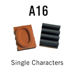 "A16 RIBtype Sorts, 1/2"" - Individual letters, numbers, & symbols. Make your own rubber stamps with RIBtype interchangeable rubber type. Order online!"