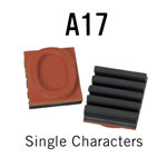 """A17 RIBtype Sorts, 5/8"""" - Individual letters, numbers, & symbols. Make your own rubber stamps with RIBtype interchangeable rubber type. Order online!"""