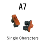 """A7 RIBtype Sorts, 1/16"""" - Individual letters, numbers, & symbols. Make your own rubber stamps with RIBtype interchangeable rubber type. Order online!"""