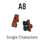 "A8 RIBtype Sorts, 5/64"" - Individual letters, numbers, & symbols. Make your own rubber stamps with RIBtype interchangeable rubber type. Order online!"