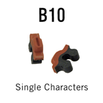 "B10 RIBtype Sorts, 1/8"" - Individual letters, numbers, & symbols. Make your own rubber stamps with RIBtype interchangeable rubber type. Order online!"