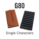 """G80 RIBtype Sorts, 1-1/4"""" - Individual letters, numbers, & symbols. Make your own rubber stamps with RIBtype interchangeable rubber type. Order online!"""