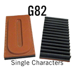 """G82 RIBtype Sorts, 1-3/4"""" - Individual letters, numbers, & symbols. Make your own rubber stamps with RIBtype interchangeable rubber type. Order online!"""