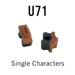 """U71 RIBtype Sorts, 9/64"""" - Individual letters, numbers, & symbols. Make your own rubber stamps with RIBtype interchangeable rubber type. Order online!"""