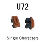 "U72 RIBtype Sorts, 3/16"" - Individual letters, numbers, & symbols. Make your own rubber stamps with RIBtype interchangeable rubber type. Order online!"