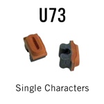 """U73 RIBtype Sorts, 1/4"""" - Individual letters, numbers, & symbols. Make your own rubber stamps with RIBtype interchangeable rubber type. Order online!"""