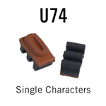 """U74 RIBtype Sorts, 5/16"""" - Individual letters, numbers, & symbols. Make your own rubber stamps with RIBtype interchangeable rubber type. Order online!"""