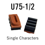 "U75-1/2 RIBtype Sorts, 7/16"" - Individual letters, numbers, & symbols. Make your own rubber stamps with RIBtype interchangeable rubber type. Order online!"