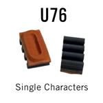 """U76 RIBtype Sorts, 1/2"""" - Individual letters, numbers, & symbols. Make your own rubber stamps with RIBtype interchangeable rubber type. Order online!"""