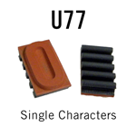 """U77 RIBtype Sorts, 5/8"""" - Individual letters, numbers, & symbols. Make your own rubber stamps with RIBtype interchangeable rubber type. Order online!"""