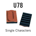 """U78 RIBtype Sorts, 3/4"""" - Individual letters, numbers, & symbols. Make your own rubber stamps with RIBtype interchangeable rubber type. Order online!"""